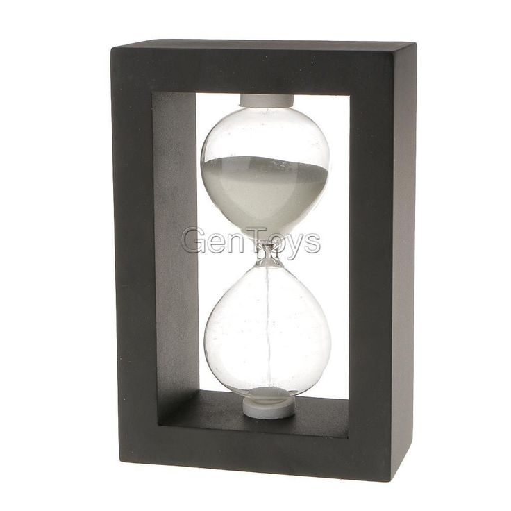 Traditional 30 Minute Wooden Kitchen Sand Timer Sandglass Hourglass In Black