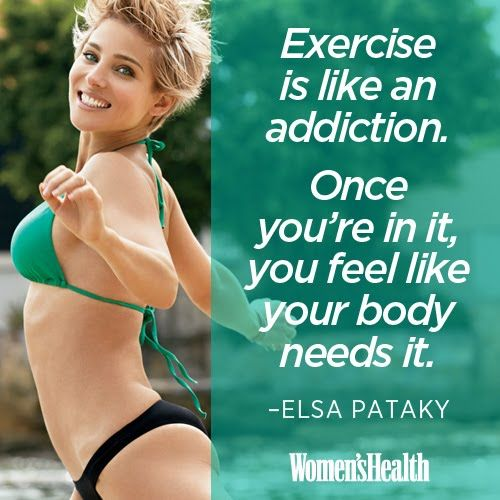 Motivational Quotes for Your Workout | Women's Health Magazine.....Chris Hemsworth's wife, so I'll listen to anything she says.