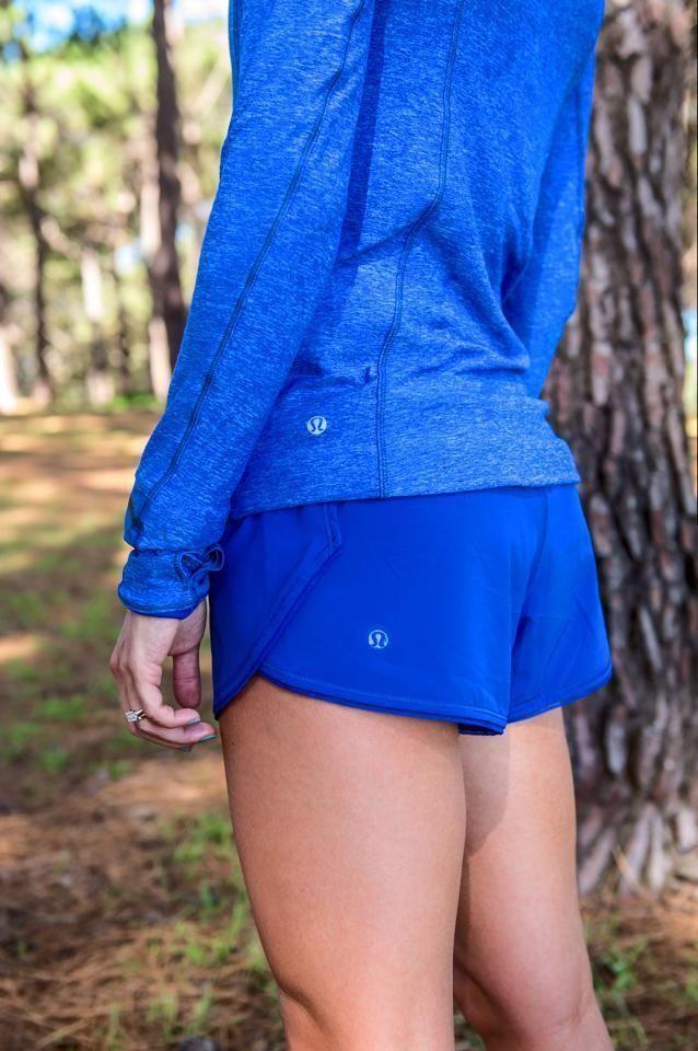 LULULEMON PACE PUSHER Harbor Blue 1/2 Zip Heathered Pullover Jacket 4 EUC HTF | eBay