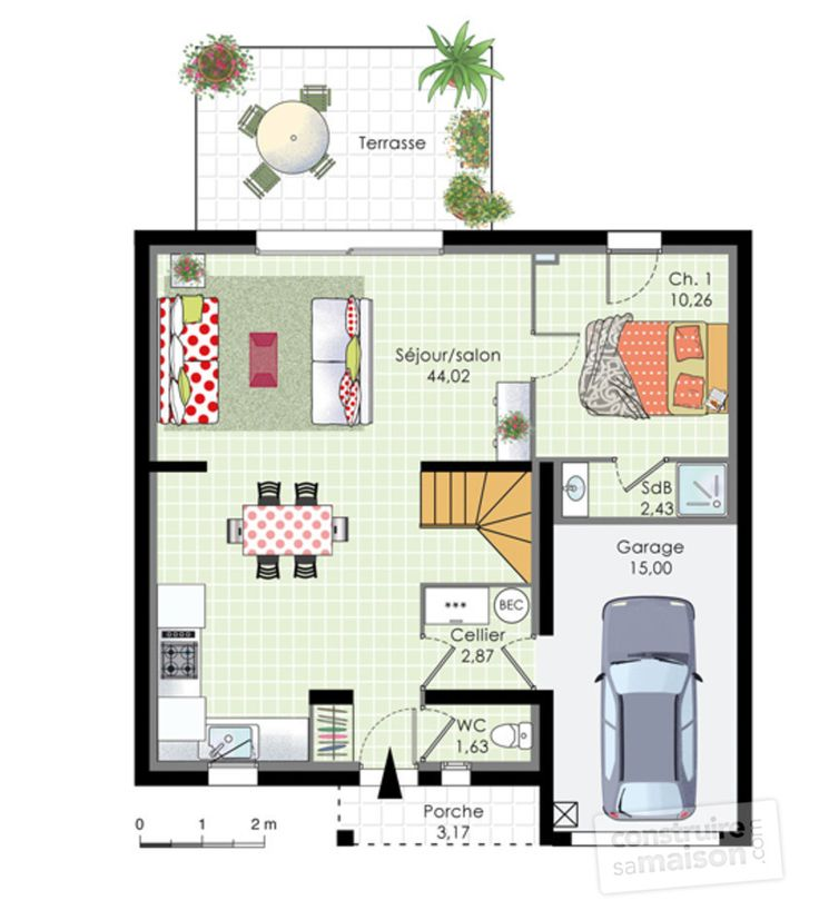 284 best Maison images on Pinterest House blueprints, Small home
