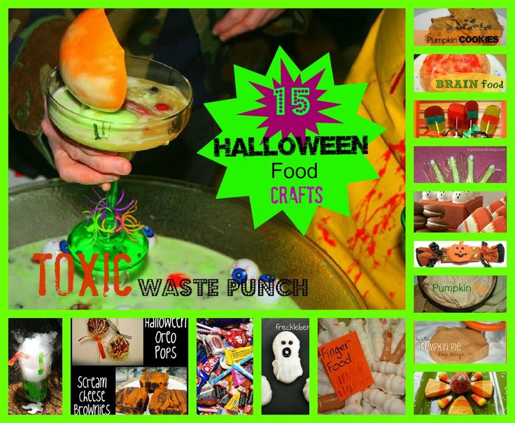 15 DIY Halloween Food Crafts! Stop over and share any food and craft halloween idea with us! http://cafescrapper-scrapsoflife.blogspot.com/2012/09/diy-halloween-food-craft-treats-link-up.html