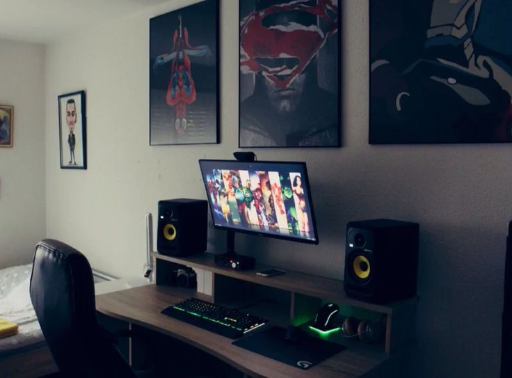 Gaming Desks Room Setup Gaming Computer Setup Computer