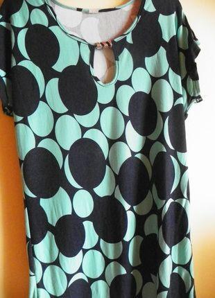 Kup mój przedmiot na #vintedpl http://www.vinted.pl/damska-odziez/koszulki-z-krotkim-rekawem-t-shirty/9753828-t-shirt-w-granatowo-turkusowe-kropki