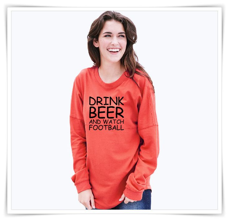 Drink Beer And Watch Football Sweatshirt | Football Fleece | Football Gift | Oversized Fit | French Terry Sweatshirt by AtanerBoutique on Etsy