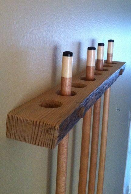 Pool Cue Rack Handmade Of Rustic Red Pine Custom