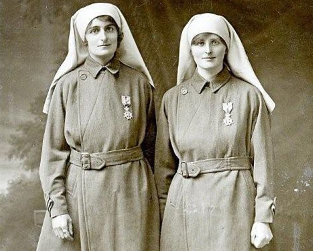 Elsie (left) and Mairi in nurses' uniforms (pic: courtesy of Diane Atkinson)