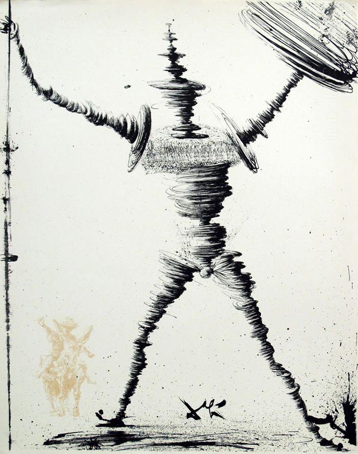 Salvador Dali - Don Quixote (1957)