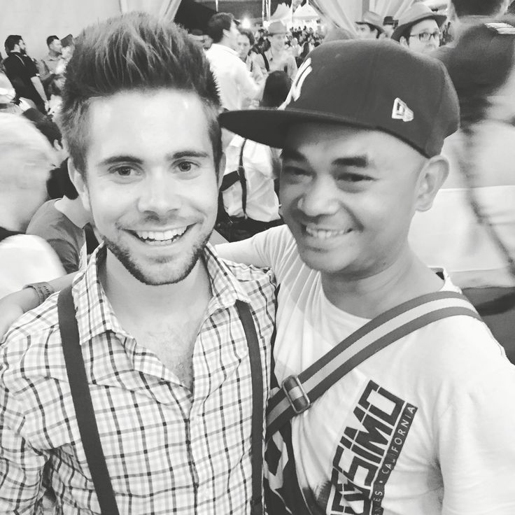Christoper and I at Oktoberfest Brisbane, 2015 at Showground