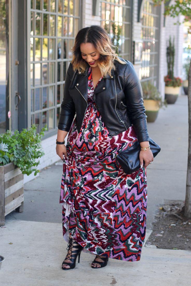Plus Size Fall Maxi Dress - Plus Size Fashion - Beauticurve
