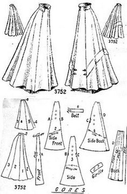 1908 skirt
