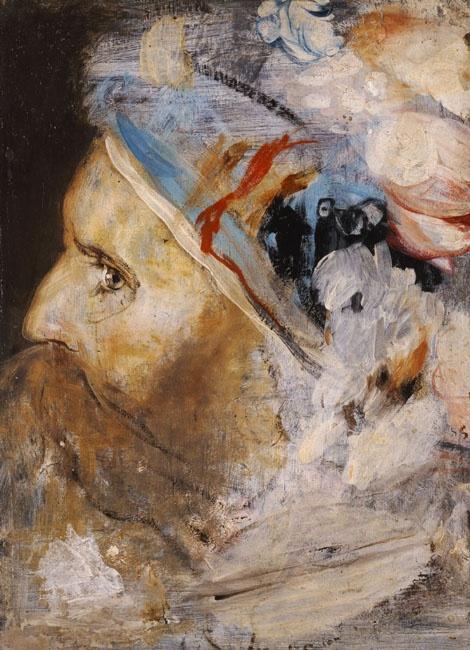 Gizis Nikolaos (1842-1901) Old man's head, ca 1880 Γύζης Νικόλαος (1842 - 1901) Κεφαλή γέρου, π. 1880