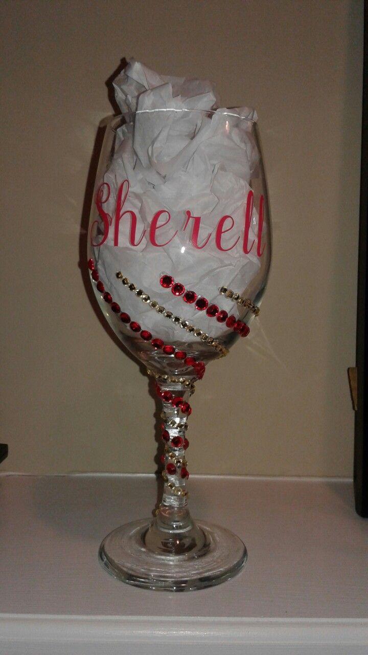 com gift decor glasses dp silver hand lolita lining painted amazon decorative glass wine