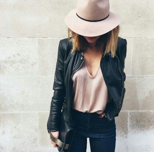 Caroline Receveur Need this leather jacket