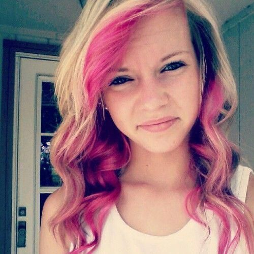 Blonde And Pink Streaks 105