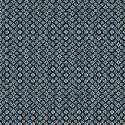 Hampton Wallpaper in Blues and Neutral design by Ronald Redding