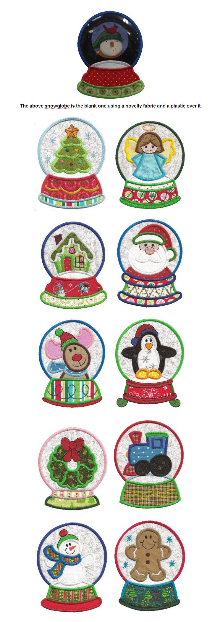 Embroidery | Free Machine Embroidery Designs | Snowglobes Christmas Applique