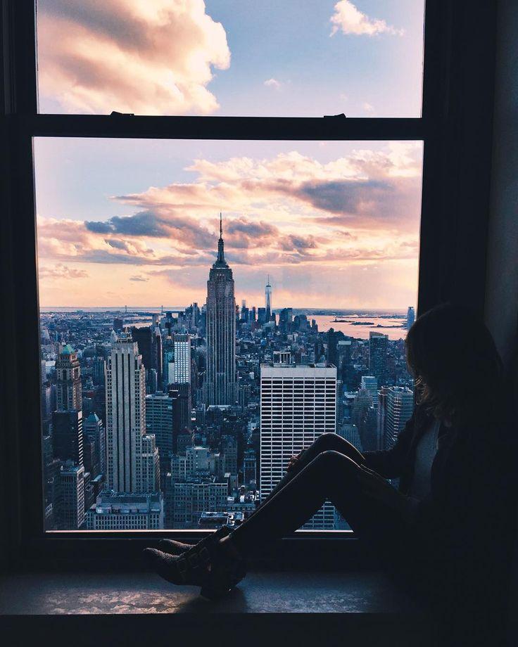 Nada melhor que sentar e apreciar a beleza de Nova York