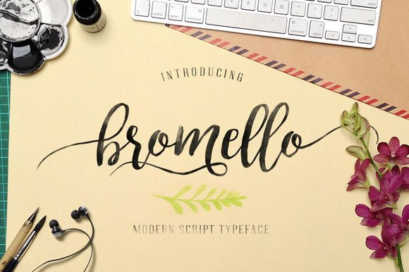 bromello typeface by alit_design on Creative Market