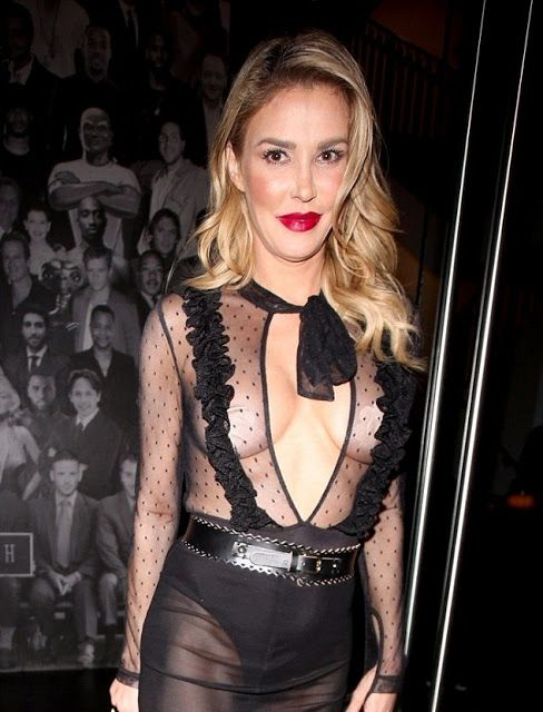 FOW 24 NEWS: Brandi Glanville Flashes The Flesh In A Sheer Dres...