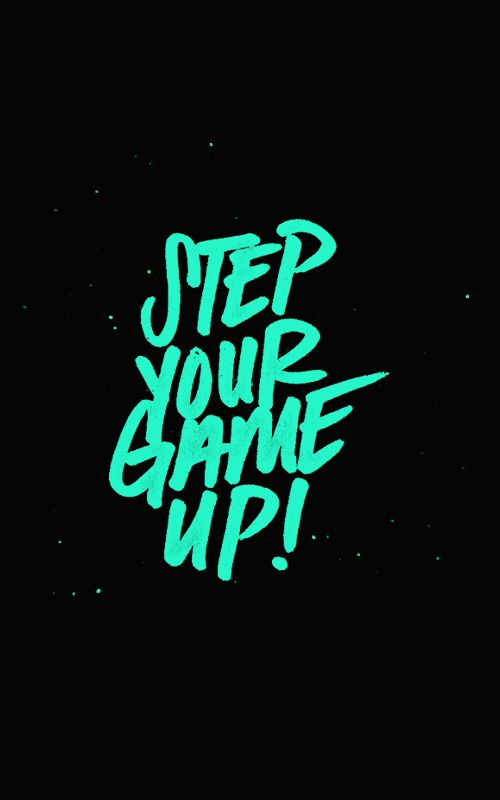 Set you Game Up! handwriting lettering