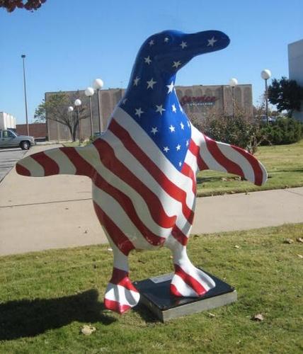 Ameriguin, Bank of America, 67th & Memorial (Woodland Hills Mall), Artist: Kevin Chrislip