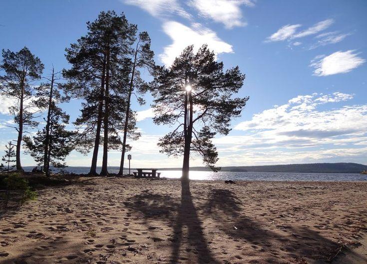 Orhinselänniemi sandbar in Miekojärvi Lake in Pello, Lapland