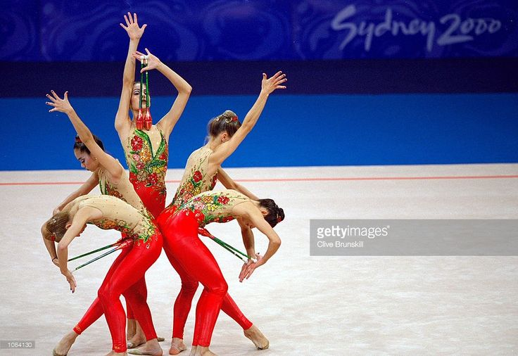 Brazil in action during their Team Rhythmic Gymnastics at Pavilion 3 in Olympic Parkon day 15 of the Sydney 2000 Olympic Games in Sydney, Australia. \ Mandatory Credit: Clive Brunskill /Allsport