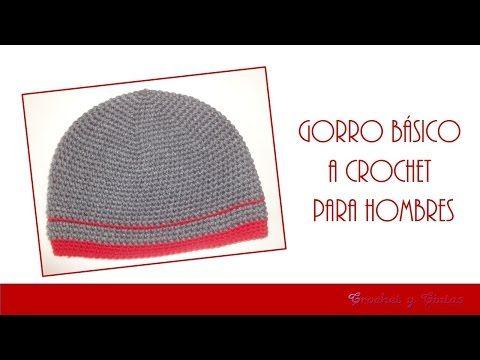 Gorro Básico a Crochet para Hombres - YouTube