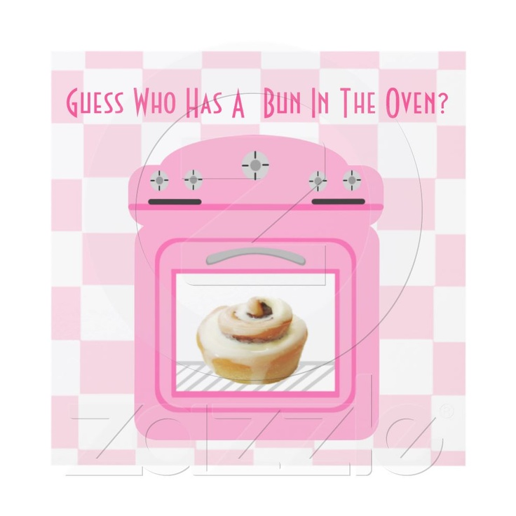 Bun In The Oven Baby Girl Pink Baby Shower Personalized Invitations