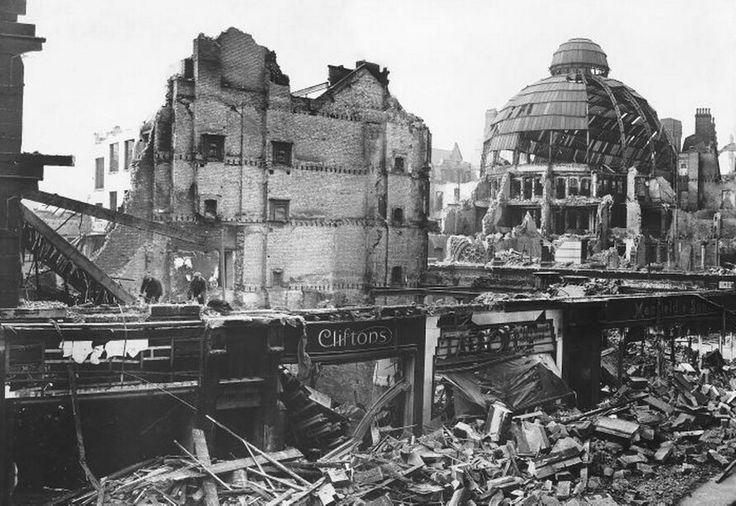 Saint Ann's Square 1940. WW2 Bomb Damage