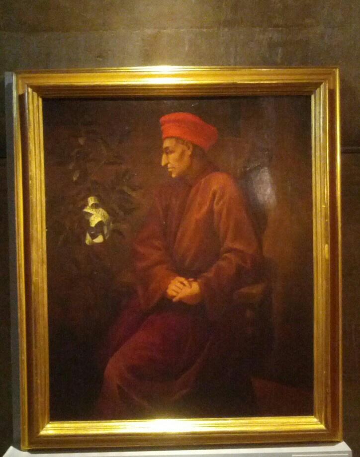 Cosimo il vecchio o il mago o pater patriae... Ma sembra un cappello frigio o sbaglio??? Di sicuro il suo sguardo non è mai rivolto alle questioni terrene....