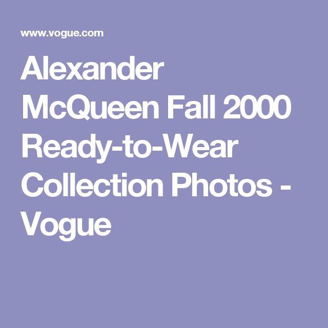 Alexander McQueen Fall 2000 Ready-to-Wear Collection Photos - Vogue