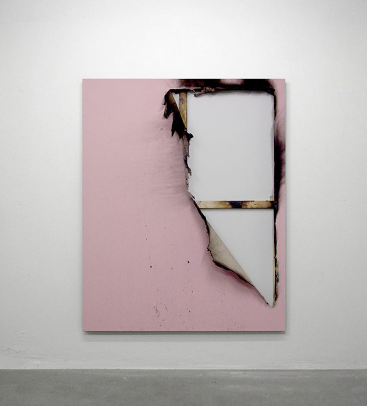 Kasper Sonne- Borderline: New Territory (2012) -Industrial paint, fire and water on canvas