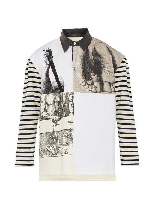1037438e J.W.ANDERSON X Albrecht Dürer cotton-jersey rugby shirt. #j.w.anderson  #cloth