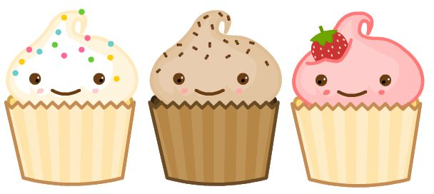 Lovely Girls: Cupcakes em PNG