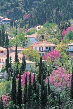 Karya village in Lefkada, Greece