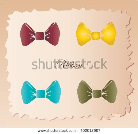 Bow tie. Man tie. Bow ties vintage. Bow tie label. Tie icon. Ribbon tie. Ribbon bow tie. Ribbon icon. Ribbon hipster. Ribbon cutting. Set of ribbon bow tie on vintage background. Ribbon knot Vector.