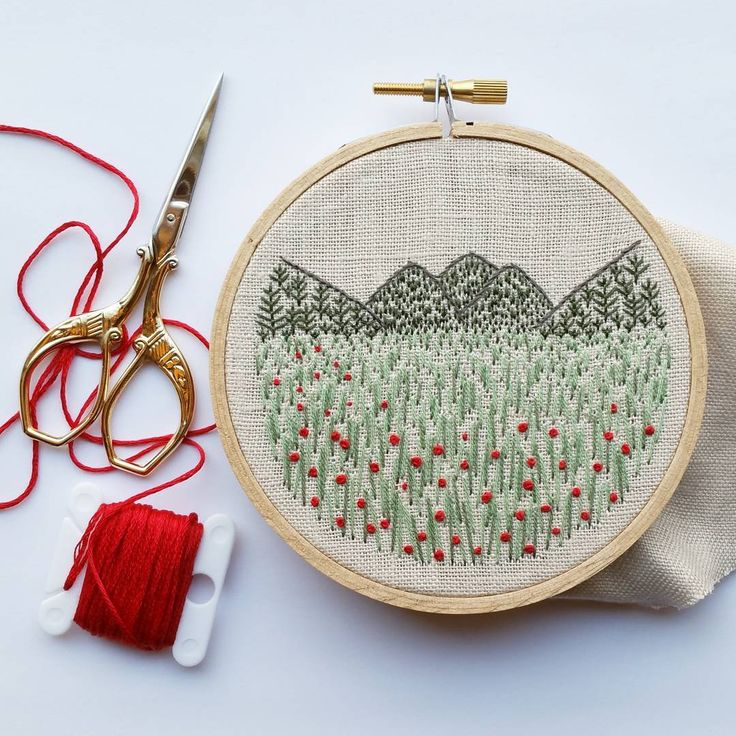 Meadow and mountains #workinprogress ❤ Wishing you a lovely weekend!