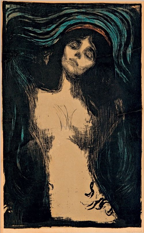 la-belle-epoche:  Edvard Munch (1863 - 1944) Madonna, 1896 1902 Litho in five colours  Private collection