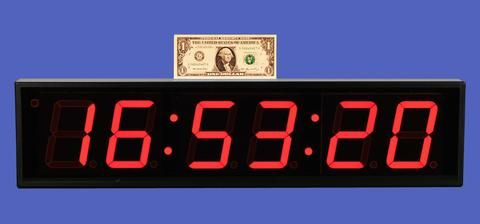 Large 4-inch LED 6-Digit Clock + Timer