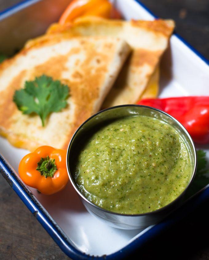 Roasted Green Tomato Salsa // OakhurstKitchen.com