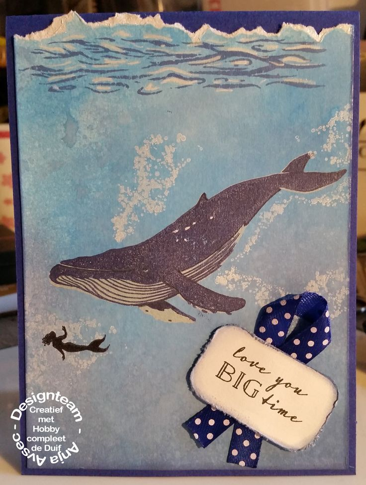 Hero Arts - Layering - Love you big time- blue whale -