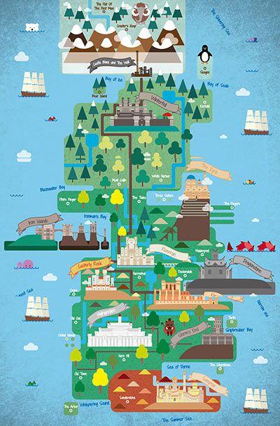 Game of Thrones ilustrado - design - Revista Wide