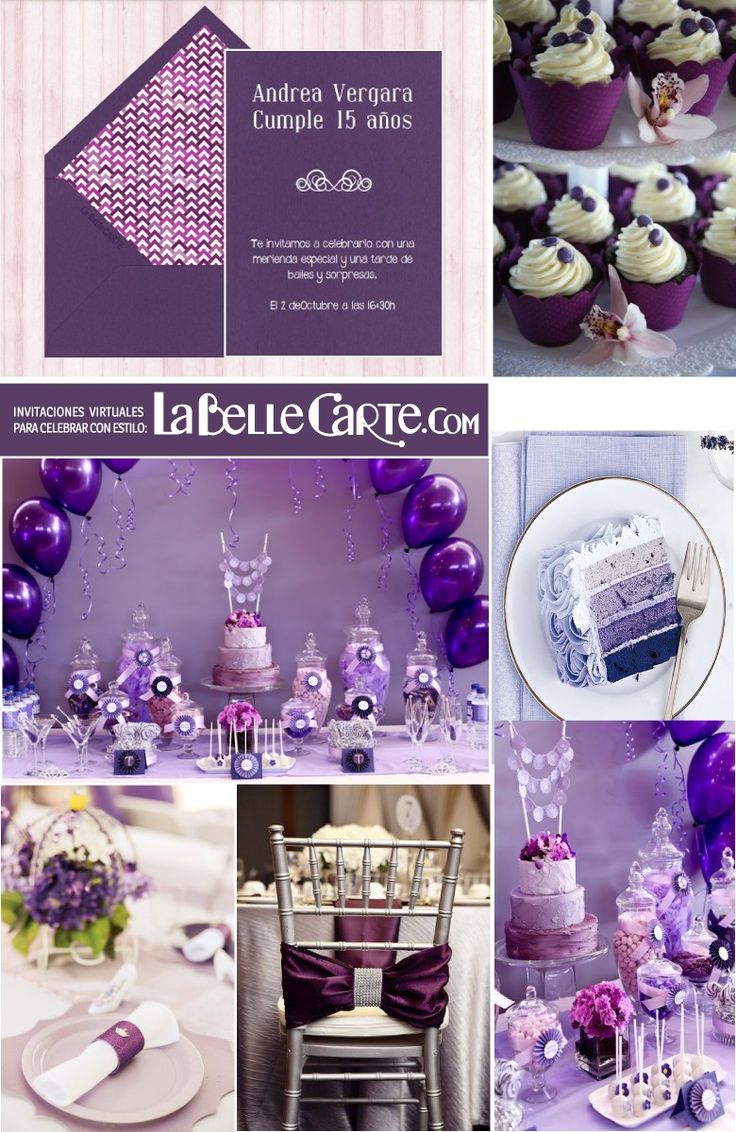 Invitacines para 15 años, invitaciones para XV años, quinceaños en morado, fiesta color morado, quinceaños, quinceañera, fiesta de 15  Para Más Ideas Visita: www.LaBelleCarte.com  Online sweet sixteen invitations, online sweet sixteen cards, purple sweet sixteen party, purple sweet sixteen ideas, sweet sixteen purple birthday  For More Ideas Visit: www.LaBelleCarte.com/en
