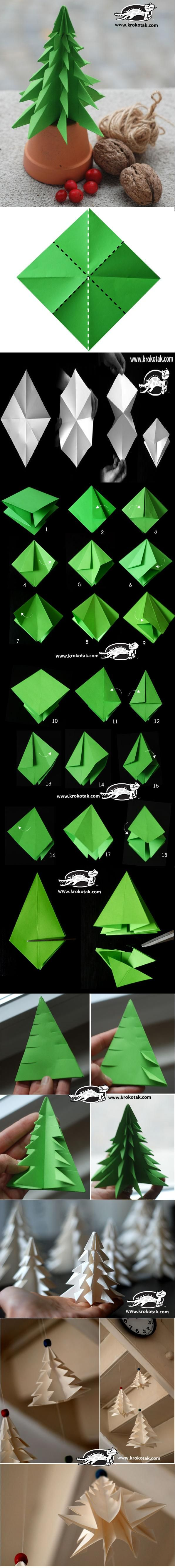 How to Fold a Fir Tree Complete Tutorial