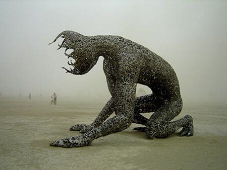 Metal Sculpture from Burning Man Festival (artist unknown)