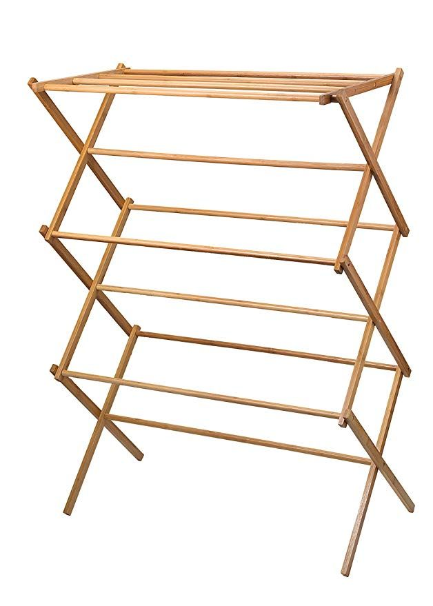 Amazonsmile Home It Clothes Drying Rack Bamboo Wooden Clothes Rack Heavy Duty Cloth Dr Clothes Drying Racks Wooden Clothes Drying Rack Wooden Clothes Rack