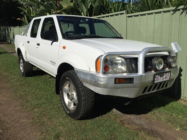 This neatly presented dual cab ute was hand picked for its reliability and safety. Featuring a strong 3.0L turbo diesel engine with 5 speed manual transmission.  Other features include power steering, icy cold air conditioning and Alpine stereo.  Also comes with tow bar, bullbar, spotlights, alloy wheels, roof racks, fishing rod holders, ladder racks and new turbo valued at $1,700. #usedcars #manual #Nissan #Navara #carsforsale
