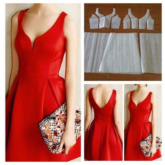 "Gefällt 98 Mal, 8 Kommentare - Jasa Pembuatan Pola Pakaian (@modellistepattern) auf Instagram: ""Basic bustier dress pattern.  Order via line : @modelliste (with @)…"""