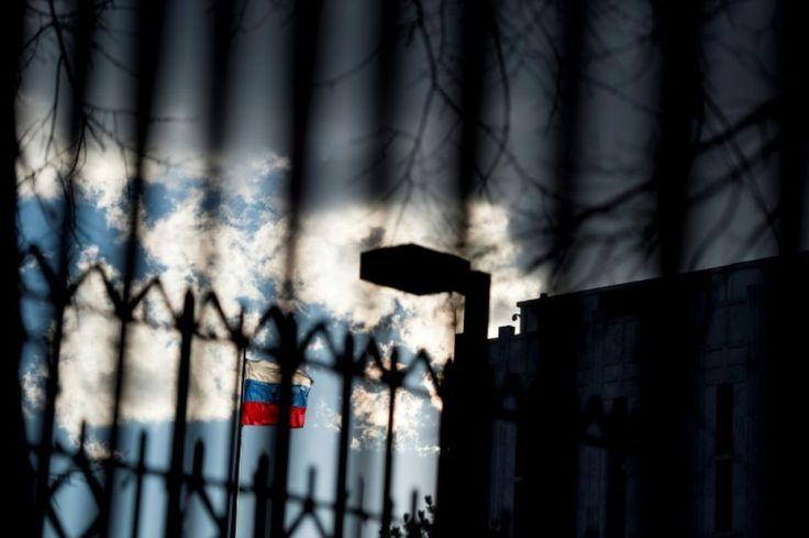 L'entrée de l'ambassade russe le 29 décembre 2016 à Washington